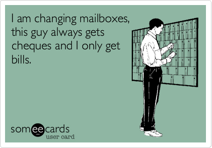 I am changing mailboxes,