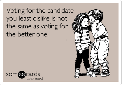 Voting for the candidate