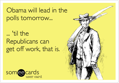 Obama will lead in the