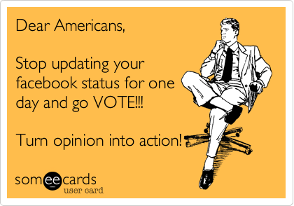 Dear Americans,