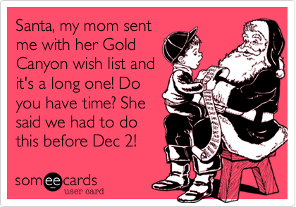 Santa, my mom sent