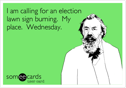 I am calling for an election