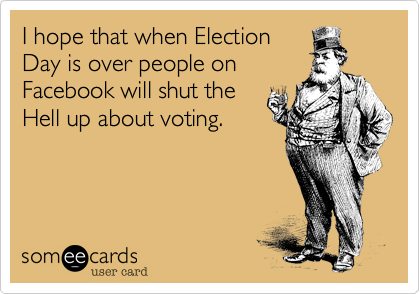 I hope that when Election