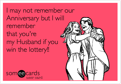 I may not remember our Anniversary but I will