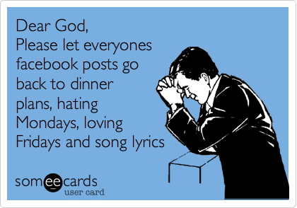 Dear God,