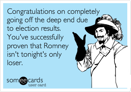 Congratulations on completely