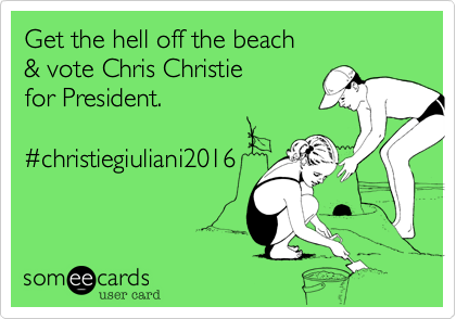 Get the hell off the beach 