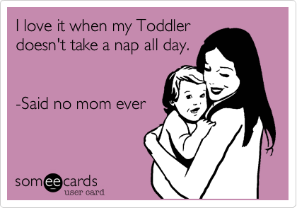 I love it when my Toddlerdoesn't take a nap all day.-Said no mom ever
