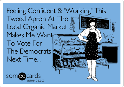 "Feeling Confident & ""Working"" This Tweed Apron At The