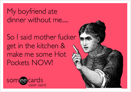 My boyfriend ate 