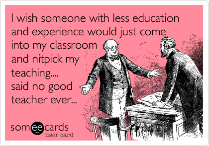 I wish someone with less education and experience would just come 