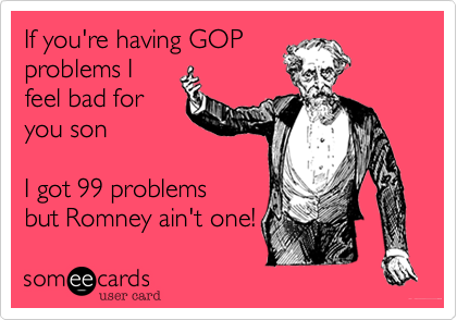If you're having GOP
