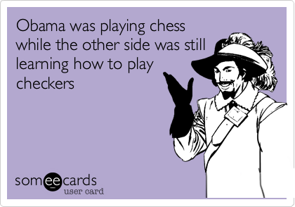 Obama was playing chess