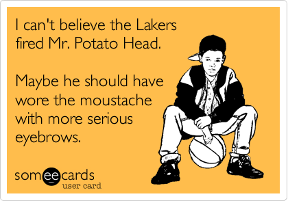 I can't believe the Lakers