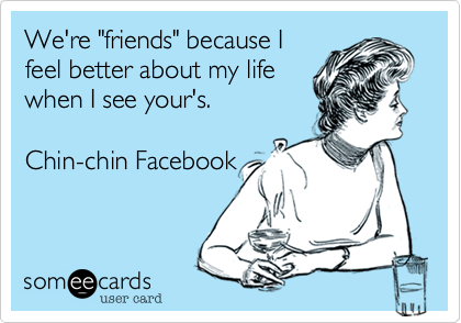 "We're ""friends"" because I