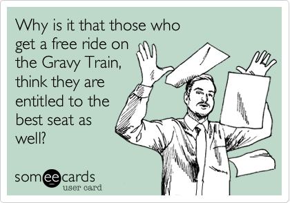 Why is it that those who