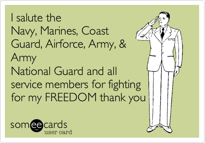 I salute the
