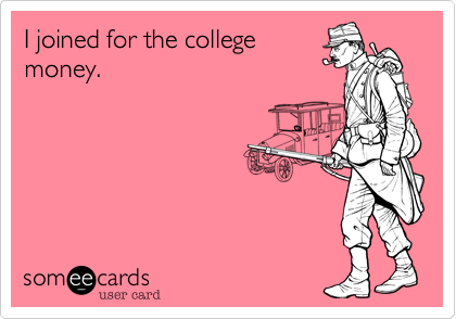 I joined for the college