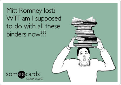 Mitt Romney lost?