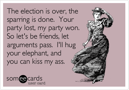 The election is over, the