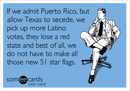 If we admit Puerto Rico, but