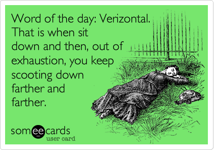 Word of the day: Verizontal.   