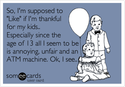 So, I'm supposed to