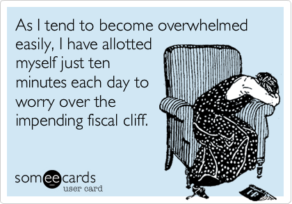 As I tend to become overwhelmed easily, I have allotted