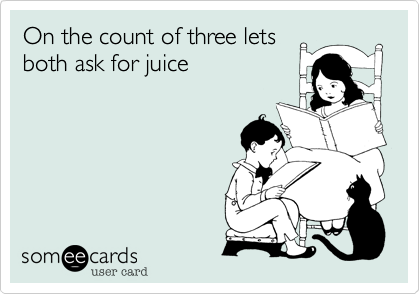 On the count of three lets