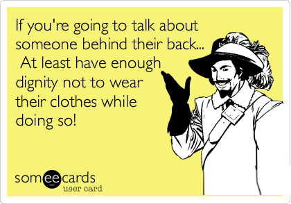 If you're going to talk about