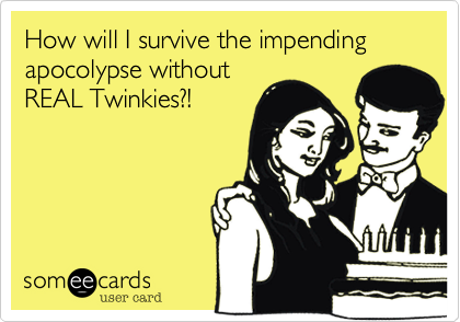 How will I survive the impending