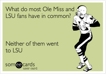 What do most Ole Miss and