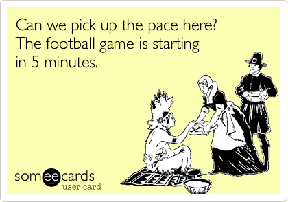 Can we pick up the pace here?