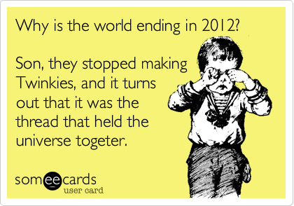 Why is the world ending in 2012?