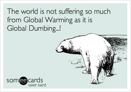 The world is not suffering so much