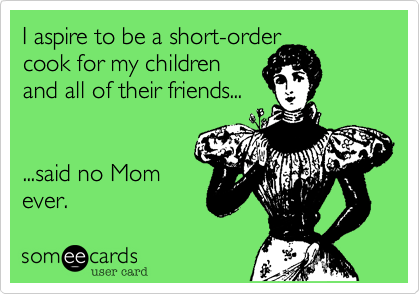 I aspire to be a short-order 