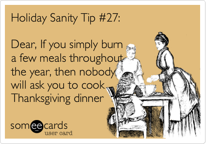 Holiday Sanity Tip #27: 