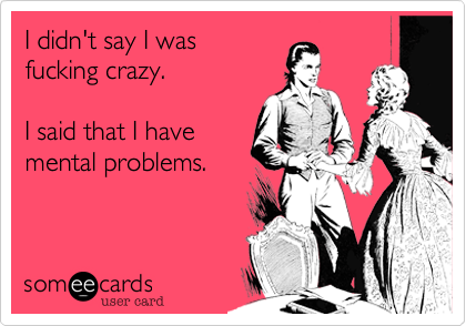 I didn't say I was 