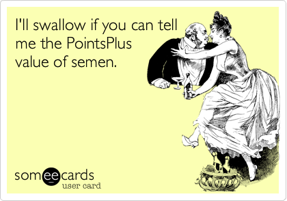 I'll swallow if you can tell