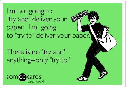 I'm not going to 