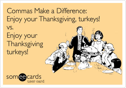 Commas Make a Difference: