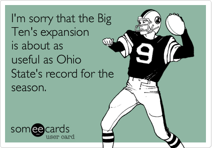 I'm sorry that the Big