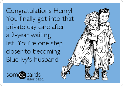 Congratulations Henry! 