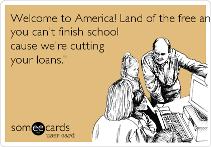 "Welcome to America! Land of the free and home of the ""Sorry,