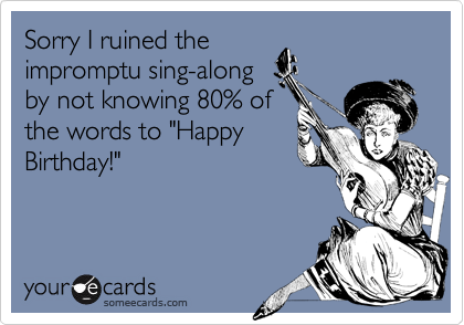 Sorry I ruined the