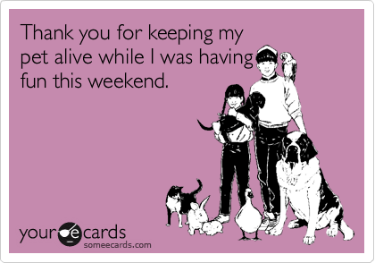 Thank you for keeping my
