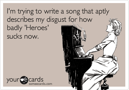 I'm trying to write a song that aptly describes my disgust for how