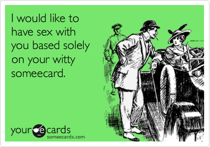 I would like to