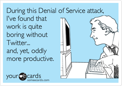 During this Denial of Service attack, I've found that 