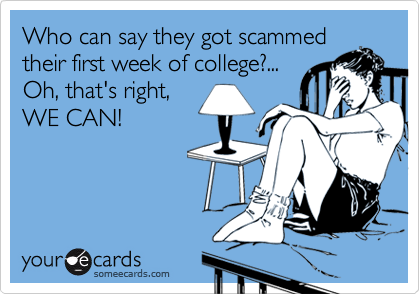 Who can say they got scammed